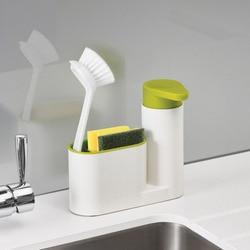 2018 Multifunctional Bathroom Kitchen Washing Sponge Storage Shelf Sink Detergent Soap Dispenser Storage Rack Organizer Stand