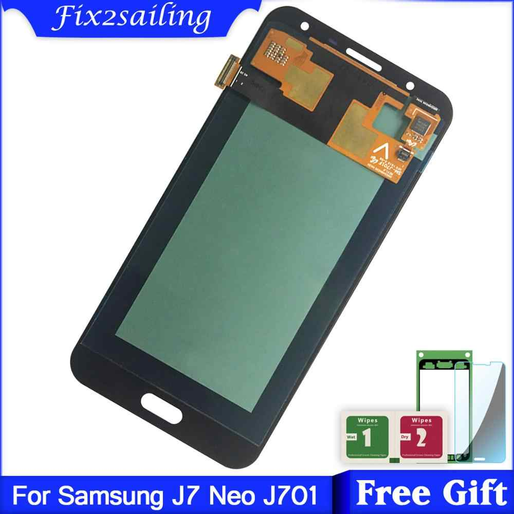 5.0inch Super Amoled LCD For Samsung Galaxy J7 neo J701 J701F J701M J701MT LCD Display + Touch Screen