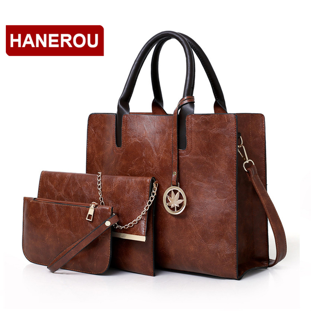 3 Pcs Leather Handbag 3