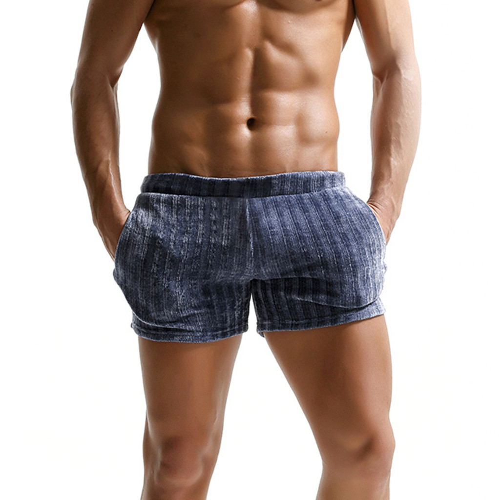 Fitness Shorts Men Summer Beach Casual Gym Homme Fast-Drying Vetement -E