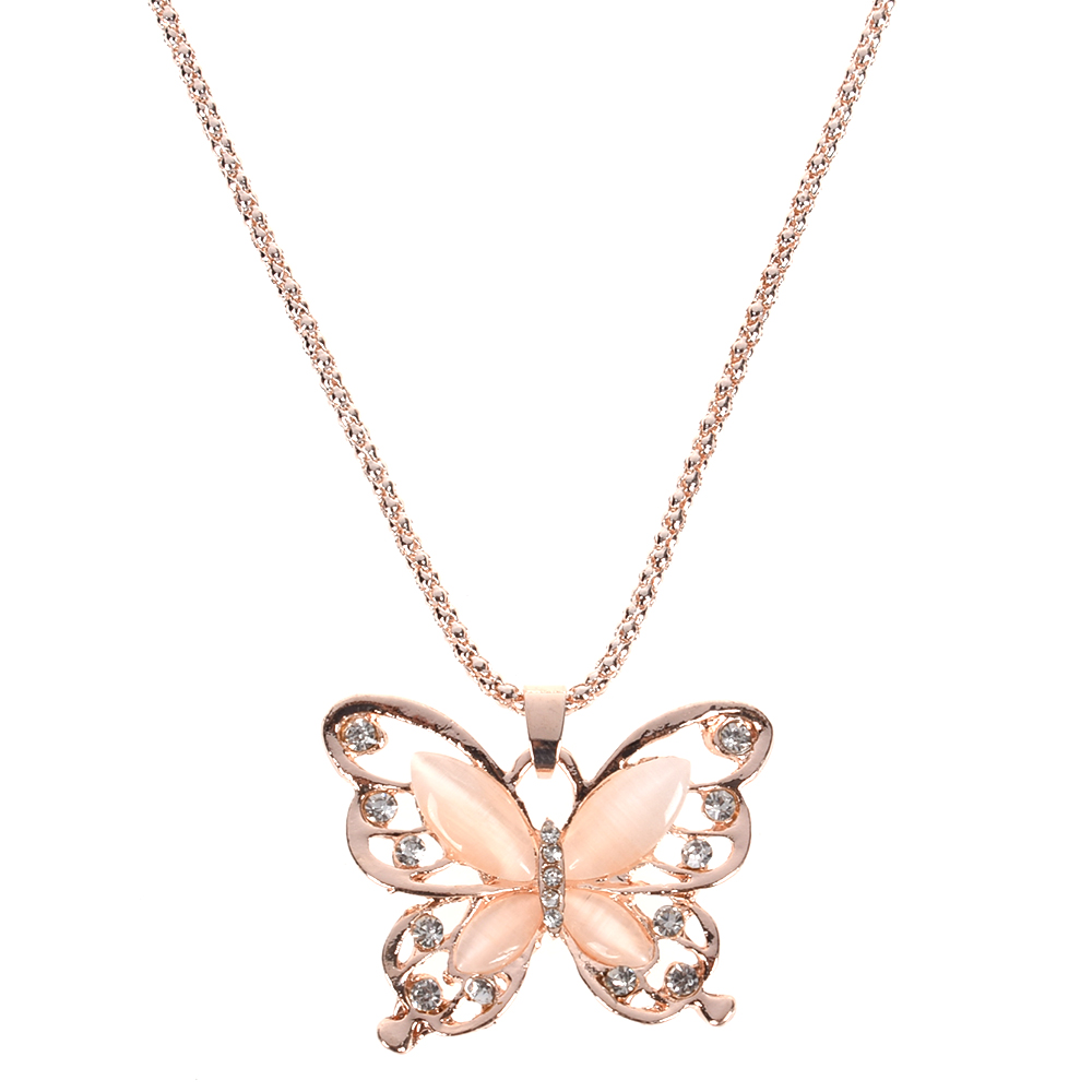 Rose Gold Opal Butterfly...