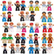 28 Styles Duplo Hot Action Figures Bricks Compatible With Legoingly Animal Train Building Blocks Educational Toys For Baby Gift