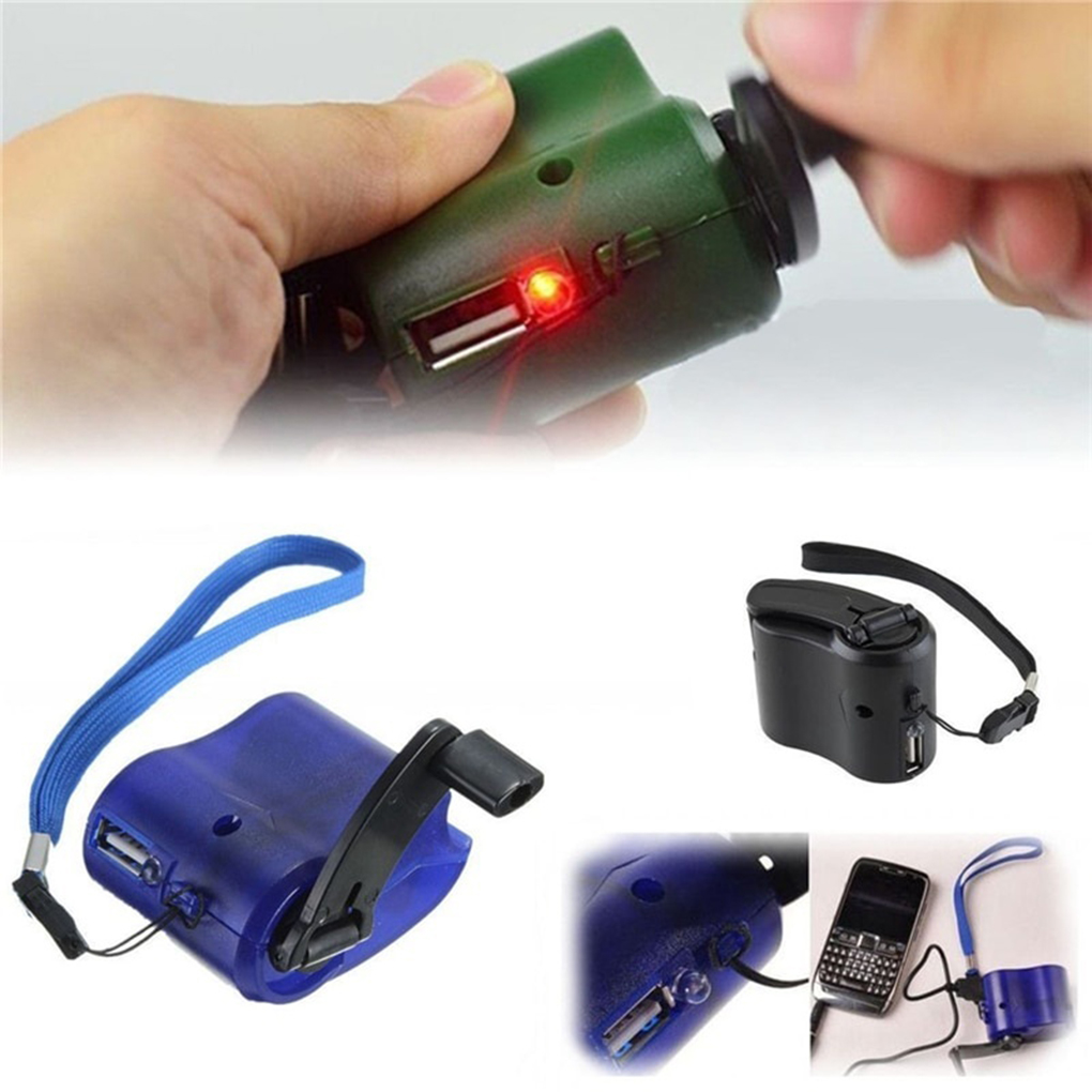 Portable USB Hand Crank Phone Emergency Charger MP4 Mobile Phone Outdoor Manual Power Supply