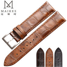 MAIKES New Arrival Genuine Leather watch strap For Men & Women High Quality Watch Band