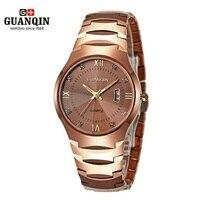 Brand Luminous GUANQIN Watch Men Women Sapphire 30m Waterproof Watch Fashion Luxury Analog Wristwatch Tungsten Steel Watches