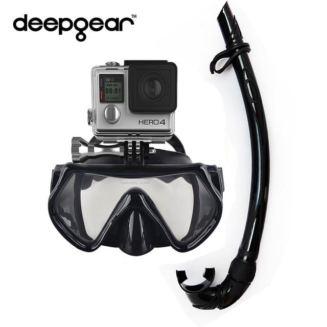 2414bdc99762 Aparat do nurkowania deepgear zestaw czarny silikon nurkowanie maska xiaomi  montażu kamery gopro maska snorkel maska