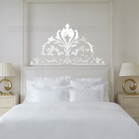 Vintage Palace Style Decorative 3D Acrylic Mirror Wall Stickers Living Room Bedroom Decor Headboard Decoration Home mural R103
