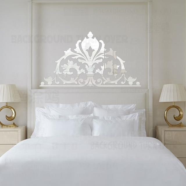 Vintage Palace Stil Dekorative 3D Acryl Spiegel Wandaufkleber ...