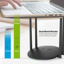 Wavlink 1200Mbps Dual Band Wifi Router Smart Wireless WI-FI Router USB Port 2.4G/5G AC1200 4x5dBi External Antennas App Control