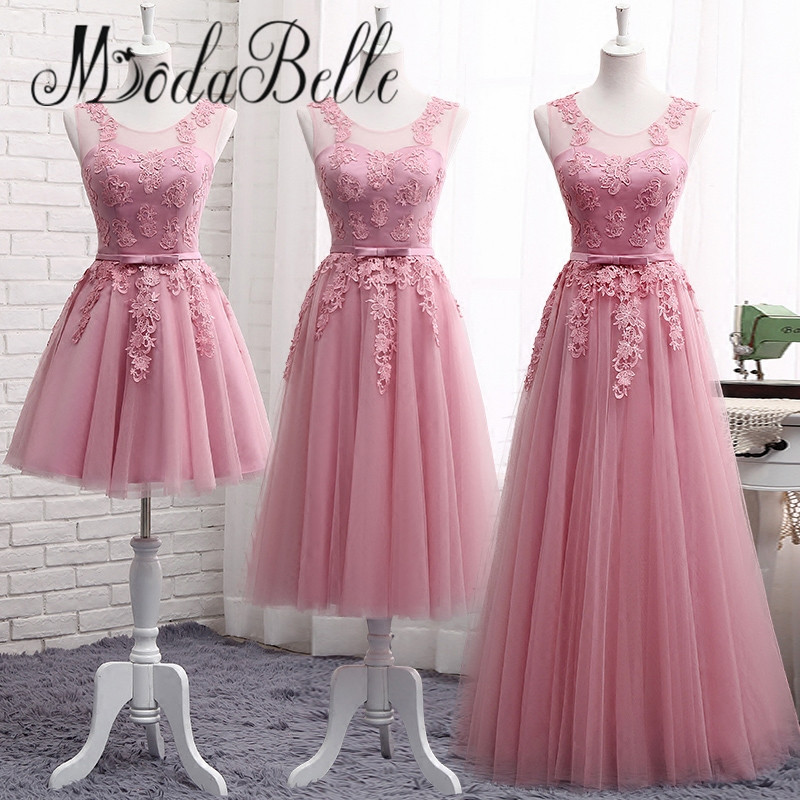 Aliexpress.com : Buy modabelle Lace Dusty Pink Bridesmaid Dresses ...