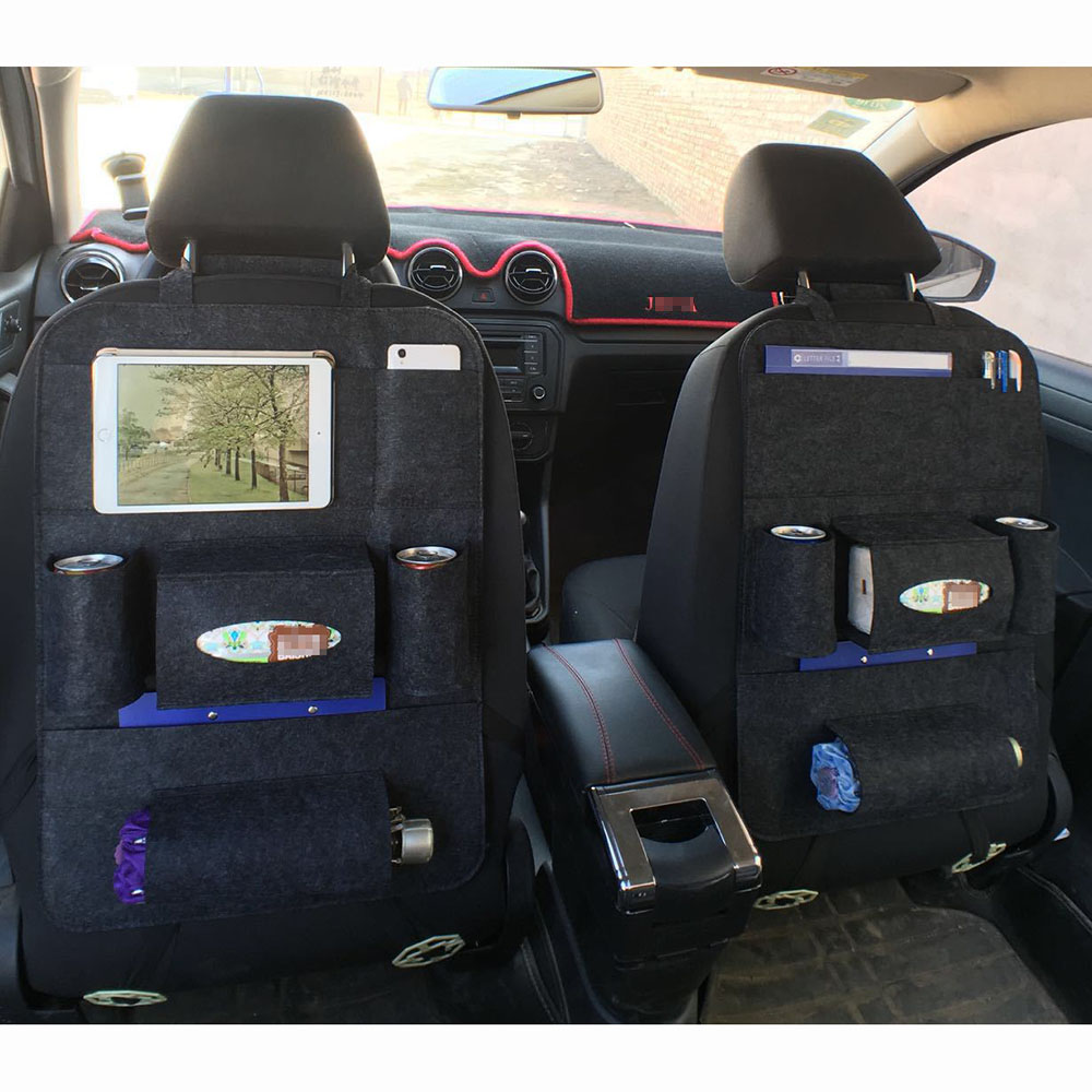 2pcs Universal Car Seat Back Storage Bag Organizer Travel Box Pocket  Protector Kids Drink For Car Accessoires