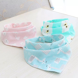 6PCS/SET Baby Bibs For Boy&Girl bandana bib Burp Cloth Print animal Triangle Cotton Baby Scarf Meal CollarBurp baby Accessories