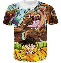 Anime Dragon Ball Z Super Saiyan t shirts Angry Gohan and Dragon Prints tshirts Women Men Hipster 3D t shirt Harajuku Tee Shirts