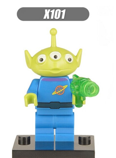 XH X101 building Blocks Super Heroes Toy Story Alien Buzz Lightyear Woody Jessie ANDY Figures Bricks Assemble Toys for children toy 4 story minifigures sy172 toy story buzz lightyeartoys woody jessie emperor aliens building blocks sets model