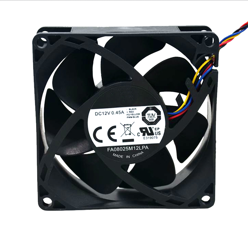 2pcs New fan For Cooler Master FA08025M12LPA 8025 80MM 8cm Computer case  CPU Cooling fan 12V 0 45A fan with PWM 4pin-in Fans & Cooling from Computer  &