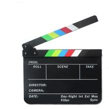 Réalisateur vidéo scène claquette acrylique effaçable à sec réalisateur TV Film Film Action ardoise Clap à la main coupe accessoire