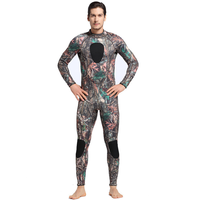2017 Male Camouflage 3MM Neoprene Wetsuit Man Swimwear Rashguard Men's Winter Warm Swimsuit One Piece Snorkeling Diving Suits sbart upf50 rashguard 2 bodyboard 1006
