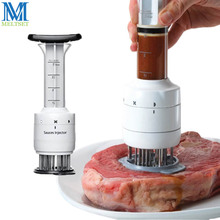1PC Multifunctional Meat Tenderizer Needle Stainless Steel Steak Meat Injector Marinade Flavor Syringe Kitchen Tools manual stainless steel fresh meat tenderizer steak chicken meat injector kitchen tools for comercial and household