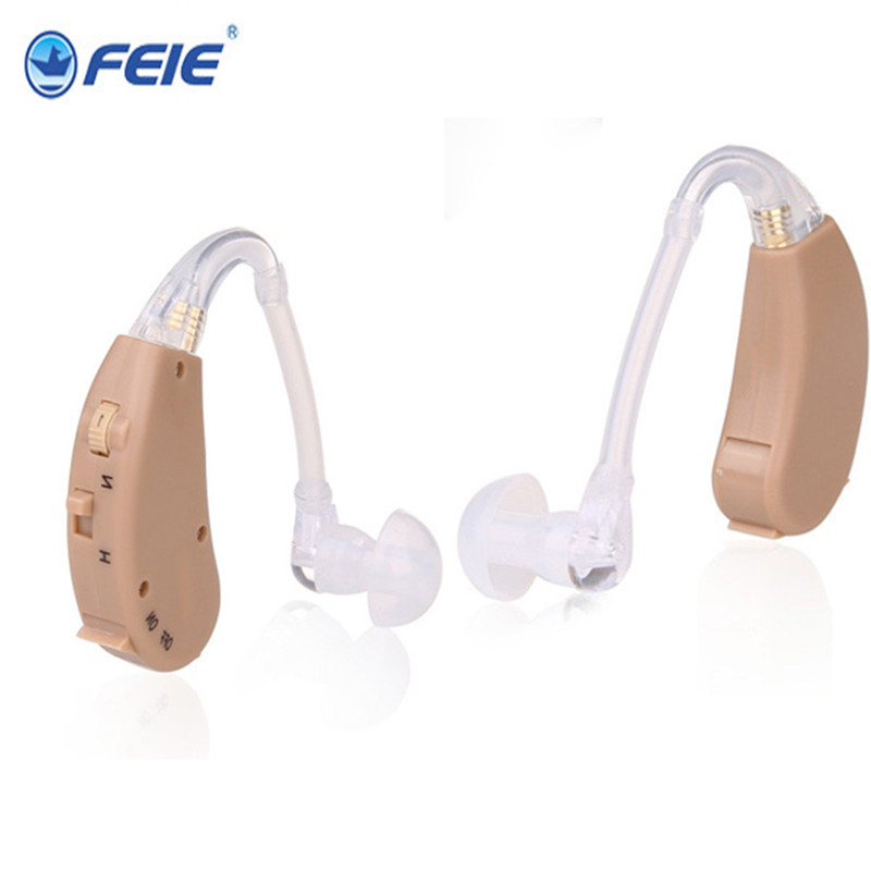 FEIE Analog Behind Ear Sound Voice Amplifier BTE Hearing Aids Acoustical battery S-268 For The Old  Discounted Drop ship free shipping hearing aids aid behind the ear sound amplifier with cheap china price s 268