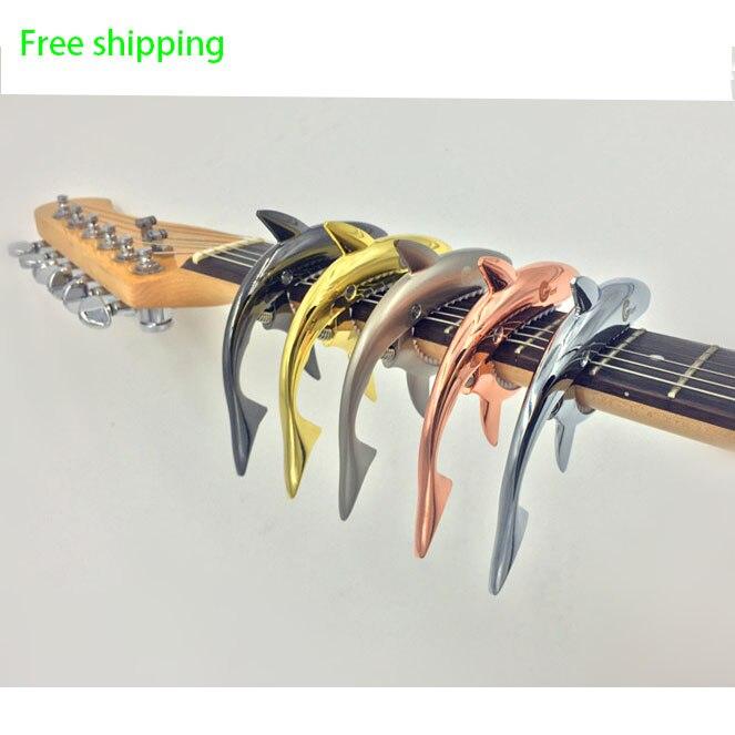 Requin Guitare Capo Zinc Alliage Universel Quick Change Clamp Pour Acoustique Classique Électrique Guitarra Instrument de musique Accessoires