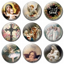 Virgin and The Angels Art 30 MM Fridge Magnet Glass Cabochon Virgin Mary Refrigerator Sticker Angel Note Holder Home Accessories virgin s daughter the