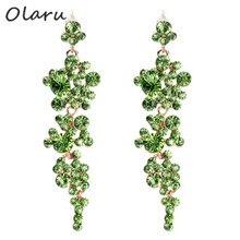 Stud-Earrings Cheap Female Extendy Women Fashion Cute New Olaru Crystal Bijoux Hot