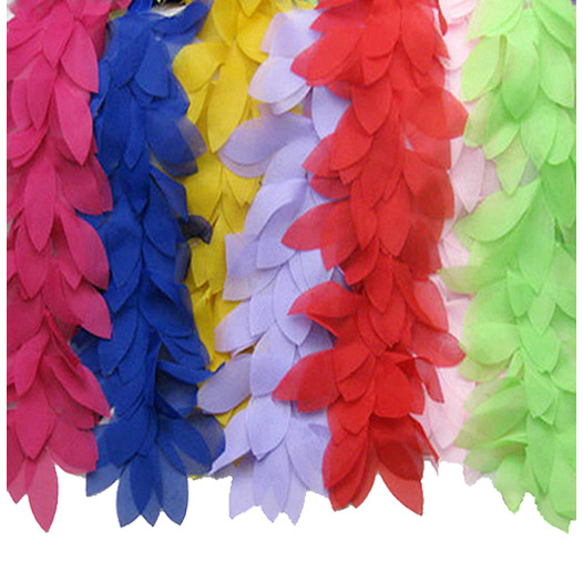 5 yards/lot Leaves 3D Chiffon Flower Lace Boa Sewing Trims Fringe Lace Ribbon Bow accessories DIY Material