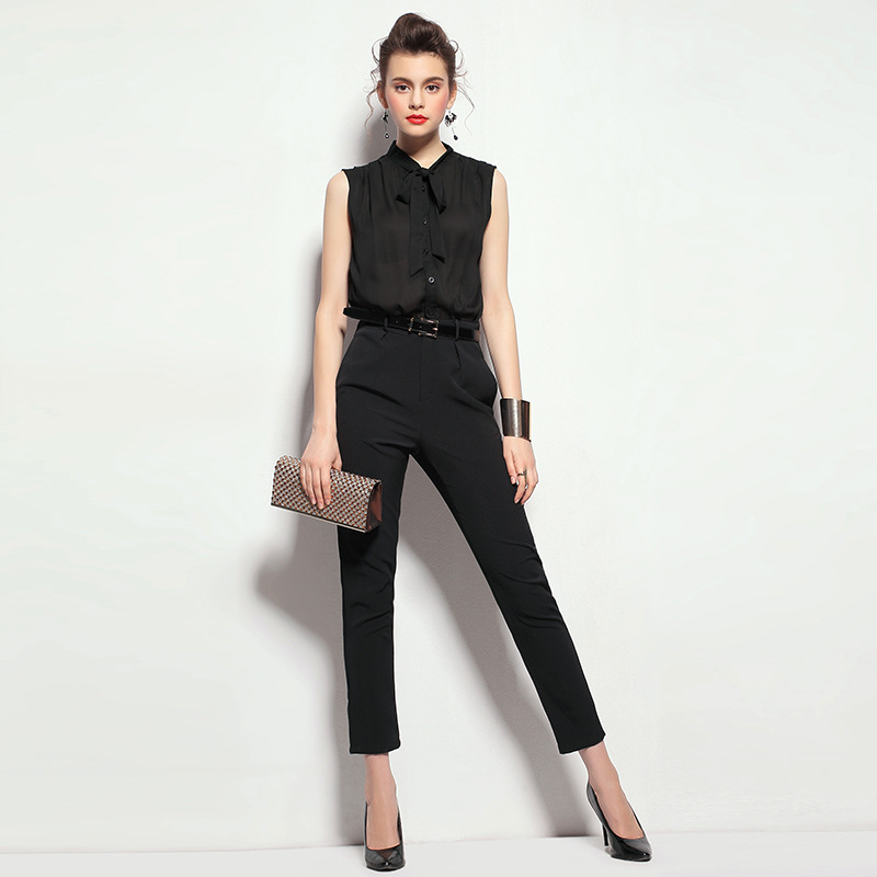 9caff3cd347d Ladies Boutique feet one piece pants trousers 2015 fashion runway office  rompers womens jumpsuit women business formal office on Aliexpress.com