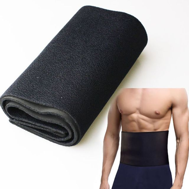 Men Shape Belt Lower Back Lumbar Support Pain Relief Band Breathable Waistband