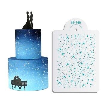 çekim Yıldız Stencil Fondan Kek Ve çikolata Boyama Kalıpları Düğün