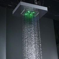 Новый Дизайн скрытые 2 функции Насадки для душа с подсветкой большой тропический душ и водопад Панель Смесители Для Ванная комната