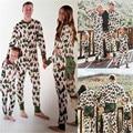 Correspondência da família Da Árvore de Natal Pijama Set de Algodão de Manga Longa Pijamas Adultos Pijamas Família Roupas Combinando