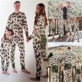 Familia A Juego Árbol De Navidad Pijamas Set de Manga Larga de Algodón Adultos de dormir ropa de Dormir Trajes A Juego de La Familia