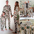 Family Matching Christmas Tree Pajamas Set Cotton Long Sleeve Adults Sleepwear Nightwear Family Matching Outfits
