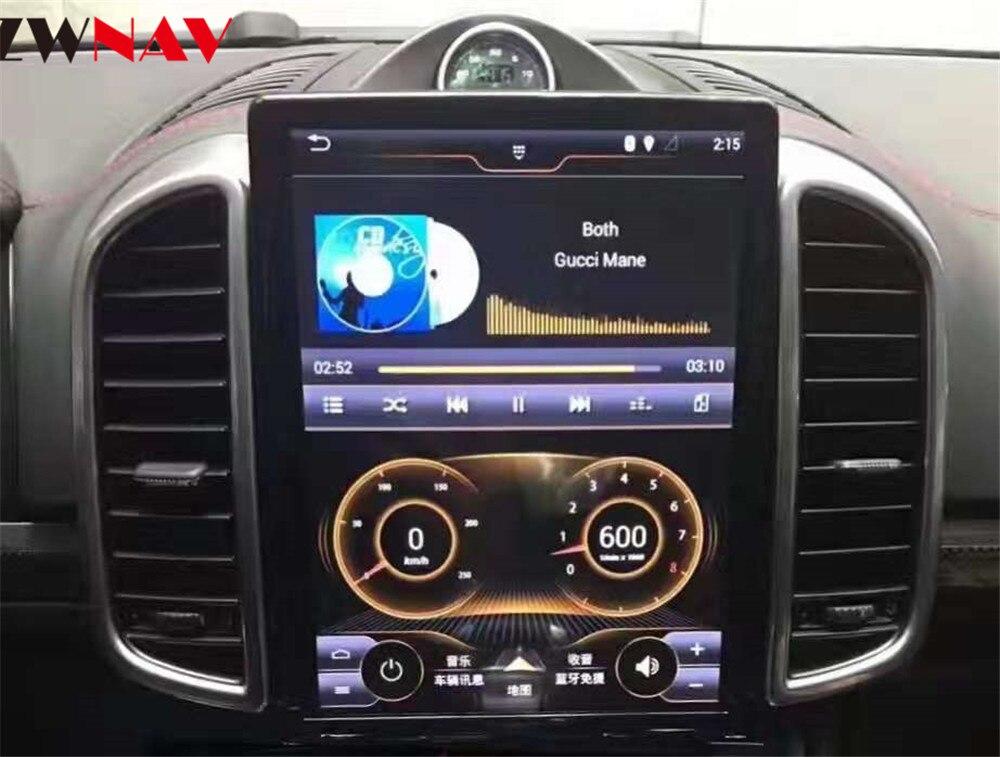 ZWNVA Тесла стиль ips Экран Android 7,1 dvd плеер автомобиля gps навигации радиоэкран для Porsche Cayenne 2011 2012 2013 2014 2015