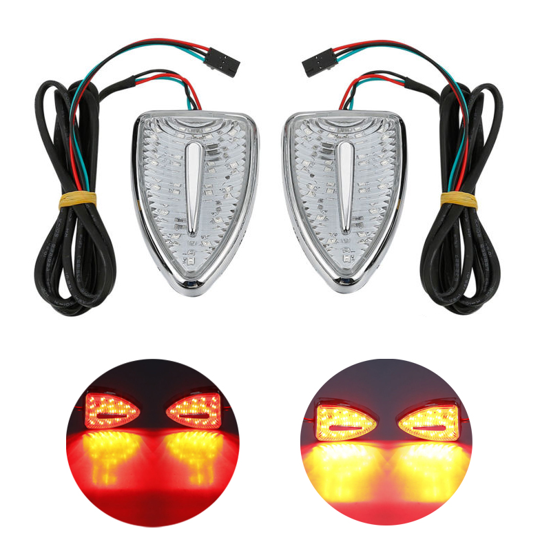 Motorcycle Aero Head Marker Red Indicator Lights For Honda Goldwing GL 1800 F6B Airbag 12-17 2017-2017