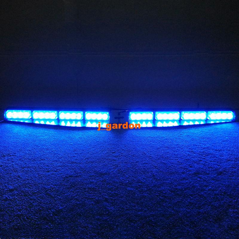 VSLED 2x 16 LED Exclusive Split Visor Deck DashCar Truck Emergency Beacon Light Bar Hazard Strobe Warning Strobe LightBar