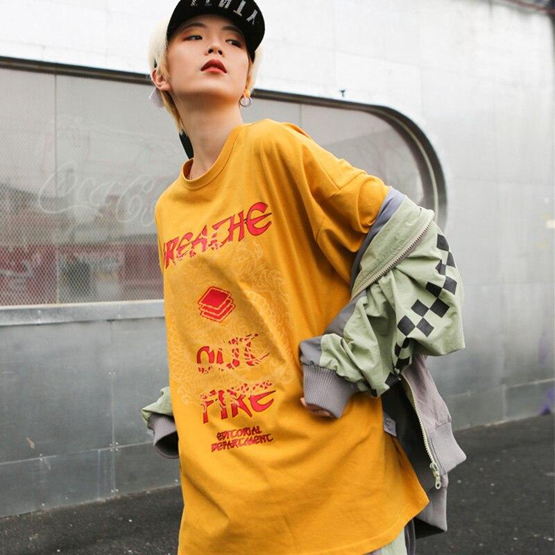 Dragon Print Vogue Style T shirt Women O Neck Drop Shoulder Street Tee Shirts Summer 2019 Streetwear T shirts Woman Clothing in T Shirts from Women 39 s Clothing