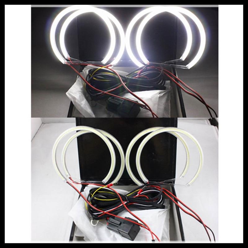 Rockeybright 4X131mm е36 е38 Е39 гало кольцо глаза ангела комплект 120smd света светодиодные ангельские глазки для БМВ E46 проектор