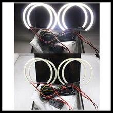 Rockeybright 4X131mm e36 e38 e39 halo ring angel eyes kit 120smd led angel eyes for bmw e46 projector