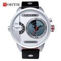 Мужчины СВЕТОДИОДНЫЕ Часы Reloj Hombre СЕВЕРНОЙ Люксовый Бренд Мужчины 2016 Спорт Двойной Дисплей Кварц Водонепроницаемый Военные Часы Horloges Mannen