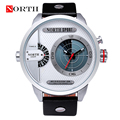 Men LED Watches Reloj Hombre NORTH Luxury Brand Men 2016 Sports Dual Display Quartz Waterproof  Military Watch Horloges Mannen