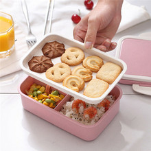Microwave Bento Lunch Box Picnic Food Fruit Container Storage For Kids Adult Double-deck Separate  Heat