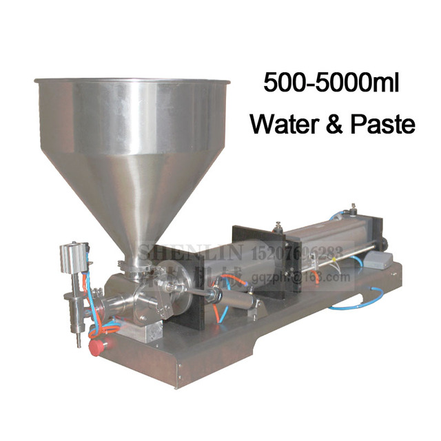 Cosmetic filling machine single bottling head filler for pasty honey,cream pump dose packaging equipment tools,hopper ss304 5L