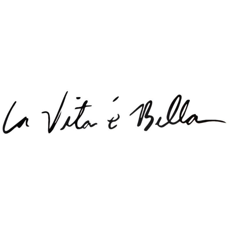 Life Is Beautiful LA VITA E BELLA Words Reflective Window Trunk Car Sticker