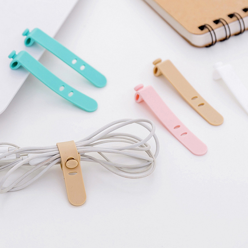 4 Pcs lot Multipurpose Desktop phone Cable Winder Earphone clip Charger Organizer Management Wire Cord 4 Pcs/lot Multipurpose Desktop phone Cable Winder Earphone clip Charger Organizer Management Wire Cord fixer Silicone Holder