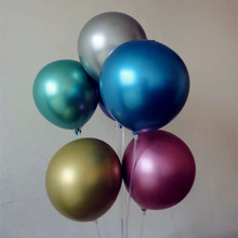 Candy colored metal balloons 15pcs/lot12 inch thick inflatable air ball birthday party decorations adult baloon wedding supplies