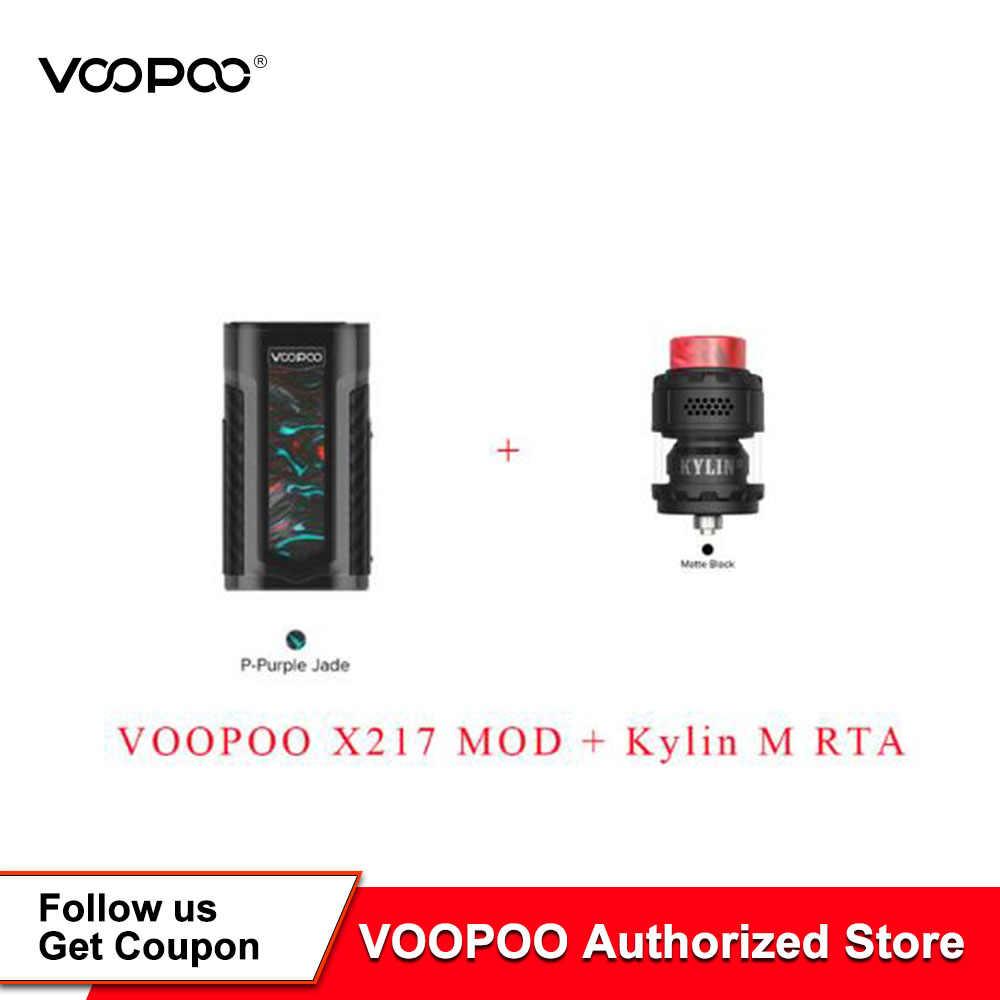 Original VOOPOO X217 TC Box Mod 217W Electronic Cigarette Vape GENE.FAN Chip TFT IPS HD Screen Fit Kylin M RTA
