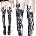 Белый Скелет Взрослых Женщин Леггинсы Женщина Леггинсы Jeggings Легинсы Sexy Legging Брюки Брюки Печатные Леггинсы
