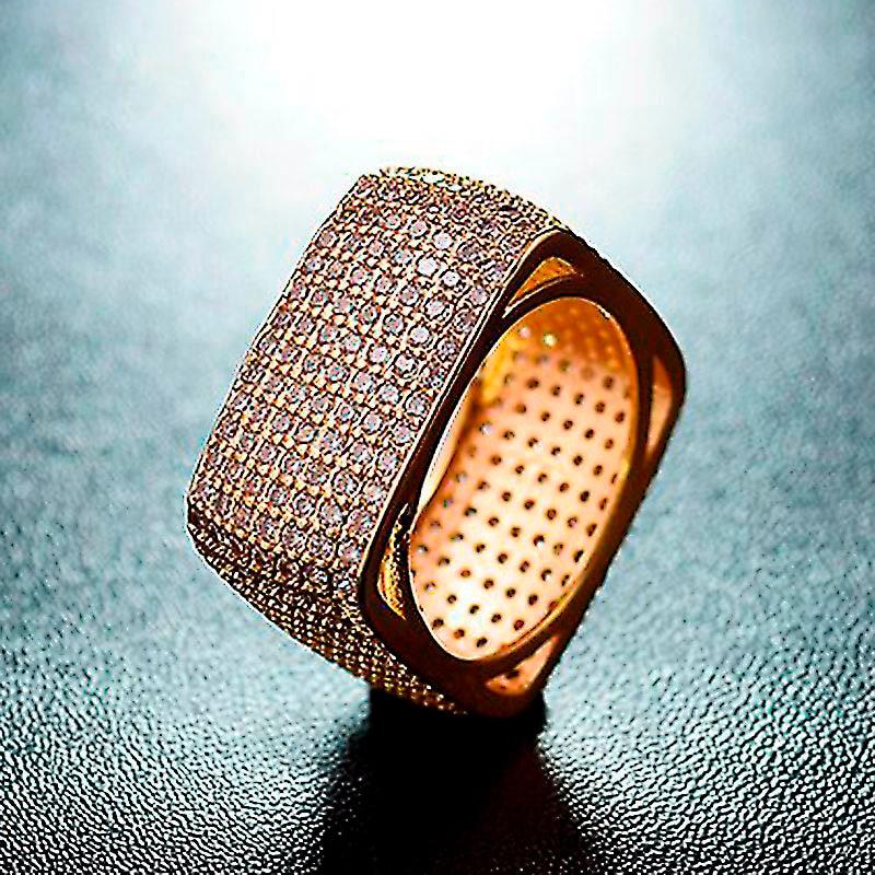 Dolaime couleur argent anneaux de mariage pour les femmes carré simulé Zircon Bijoux Bague Bijoux Femme Bague de fiançailles R638